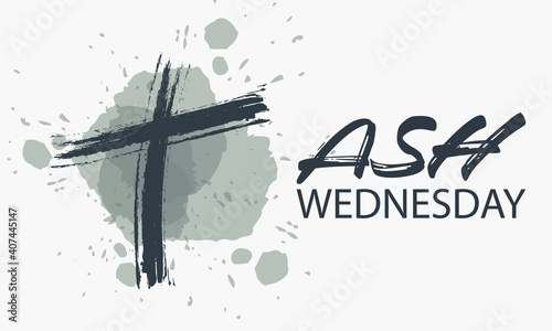 Canvas Print Ash Wednesday is a Christian holy day of prayer and fasting