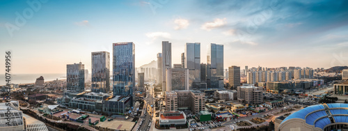 Fototapety, obrazy: Aerial photography of modern urban architectural landscape of Qingdao, China