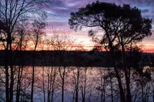 Erkner, Deutschland - Sonnenaufgang Am Flakensee