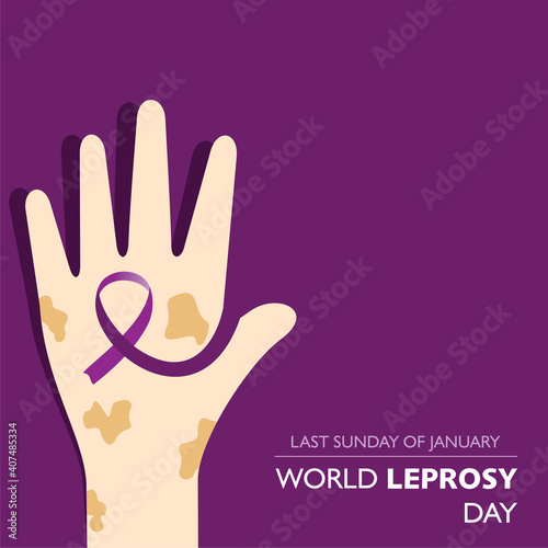 Fotografie, Obraz World Leprosy Day observed on last Sunday of January every year
