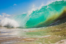 Turquoise Blue Wave Breaking