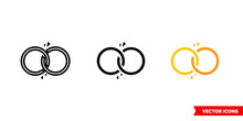 Divorce Icon Of 3 Types Color, Black And White, Outline. Isolated Vector Sign Symbol.