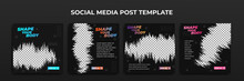 Social Media Story Template. Template Post For Ads. Design With Black Grunge Background.