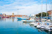 Livorno, Tuscany: Port Of Livorno, One Of The Largest Italian Seaports And One Of The Largest Seaports In The Mediterranean Sea.