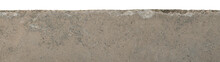 Cement Stained With Mud Isolated On White Background. Have Clipping Path