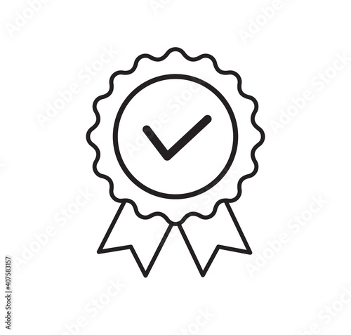 Obraz na plátně Quality certificate icon isolated on white background