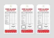 Fire Alarm Inspection Tag Template. Used By Fire Protection Technicians During Fire Alarm Testing Or Inspection To Mark Parts And Components With Good Working Order, Impaired Or Non-operational.