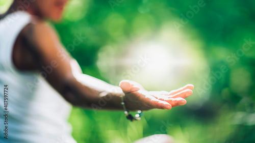 Obraz na płótnie Cultivating a Positive Self-healing Energy