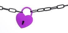 Lock Of Love - Purple Heart Lock