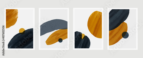 Photo Abstract wall arts vector collection