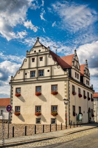 niemegk, deutschland - rathaus am marktplatz © ArTo