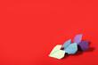 Leinwandbild Motiv Origami hearts on color background