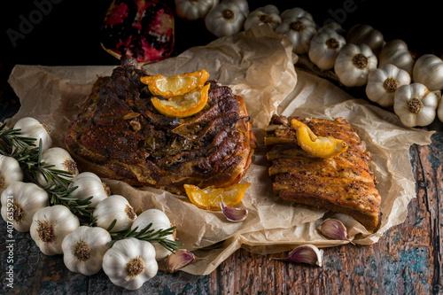 Fototapeta Pieczone mięso obraz