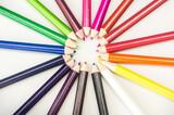 Fototapeta Tęcza - Kolorowe kredki