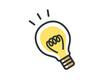 明かりのついた電球のイラスト