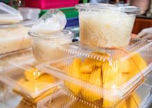 Mango Sticky Rice Coconut Milk Thai Desert Food Famous Street