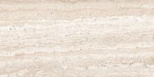 Travertine Italian Exotic Marble Background Modern Interior, Ivory Emperador Quartzite Marbel Surface, Close Up Beige Marfil Glossy Wall Tiles, Polished Limestone Granite Slab Called Travertino.
