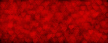 Background For Valentine's Day Decoration. Bright Red Heart, Bokeh. Love. Preparing For The Holiday.