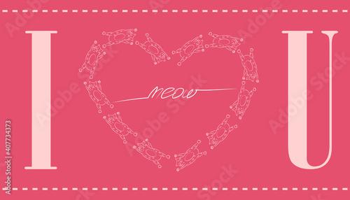 Photo Original postcard for Valentine's Day