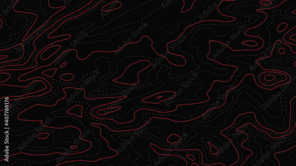 Fototapeta Topographic map.Abstract background with lines and circles.Vector illustration.