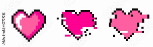 Obraz na plátne The heart shape symbol