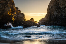 Sunset From Pfeiffer Beach In Big Sur.