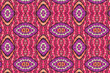 canvas print picture - Colorful African fabric – Seamless pattern, photo