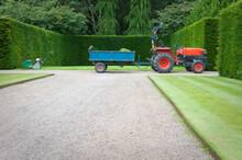 Garden Tractor With Trailer
