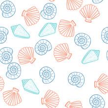 Seashells, Seamless Color 3