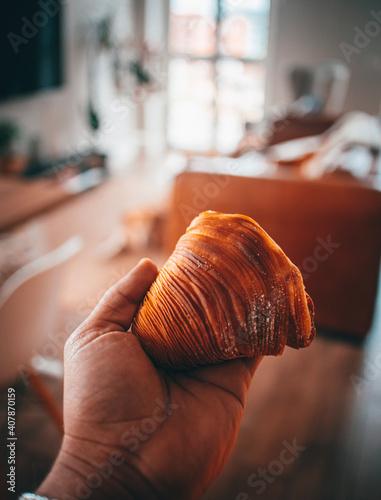 Billede på lærred orange and white chocolate sfogliatella