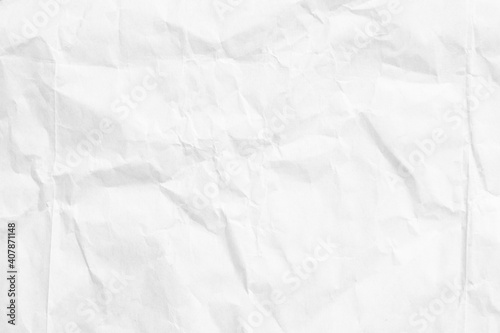Obraz White paper sheet texture background with crumpled wrinkled and rough pattern, empty blank paper page material for any design - fototapety do salonu