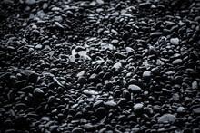 Black Pebbles Background