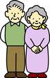 老夫婦 夫婦 シニア 2人 家族 高齢者