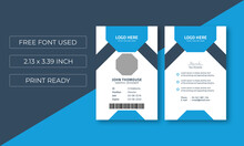 Creative Id Card Layout Template