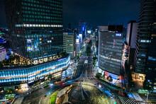 愛知県名古屋市 駅ビルからの名古屋駅前 夜景 桜通口
