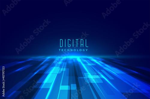 Fototapeta futuristic digital floor technology perspective background obraz