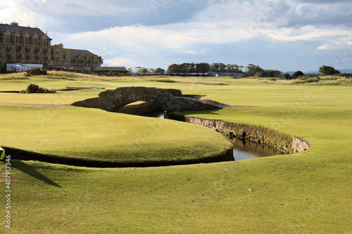 Canvas Print A view of St Andrews Golf Course
