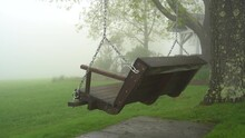 Bench Swing In The Fog