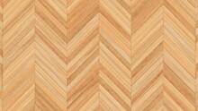 Wooden Wall Background. Light Wood Pattern. Modern Wood Template. Herringbone Parquet. 3d Illustration.