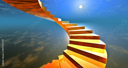 Tablou Canvas fantasy image stairway to heaven