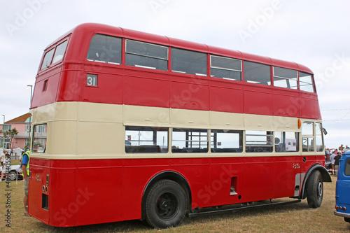 Fototapeta Vintage double decker bus