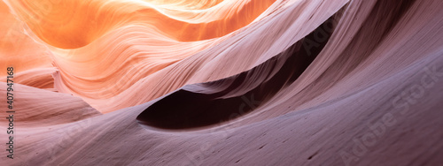 Antelope Canyon, Arizona - abstract background with details in sandstone.
