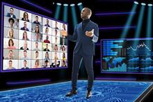 Virtual Video Conference Webinar Call