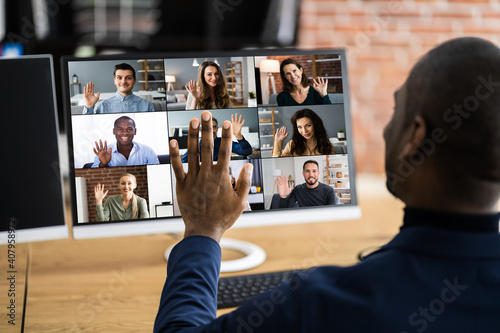 Fotografia Online Video Conference Work Webinar