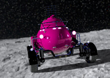 Lunar Roving Vehicle On The Moon Rear Cool View