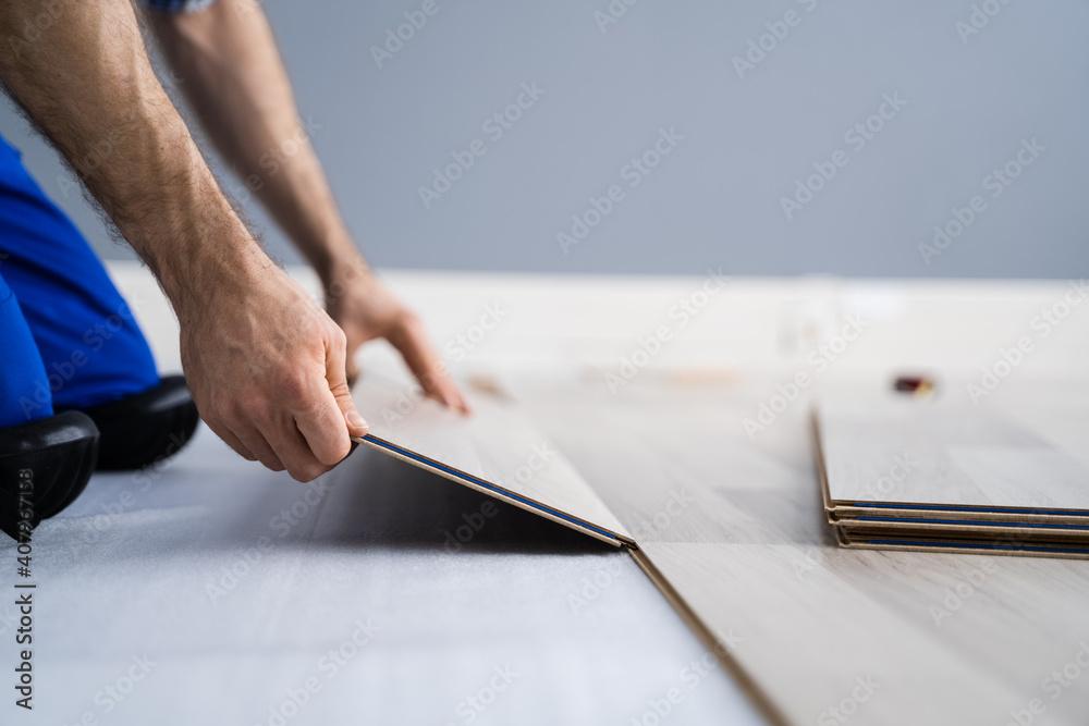 Fototapeta Hardwood Floor Renovation - obraz na płótnie