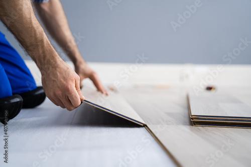 Obraz Hardwood Floor Renovation - fototapety do salonu