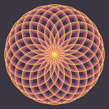 An Abstract Circular Retro Line Art Background Image.