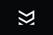 DM Logo Letter Design On Luxury Background. MD Logo Monogram Initials Letter Concept. DM Icon Logo Design. MD Elegant And Professional Letter Icon Design On Black Background. M D DM MD