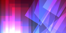 Abstract Vector Background Of Blue And Pink Rectangles And Triangles